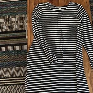 Long sleeve old navy striped dress
